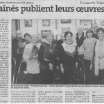 """""""Les aînés publient leurs oeuvres"""" - Est Républicain 08/12/2013"""