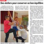 Des ateliers pour conserver un bon équilibre - Est Républicain 02/02/2019