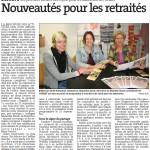 Nouveautés pour les retraités - Est Républicain 14/09/2015